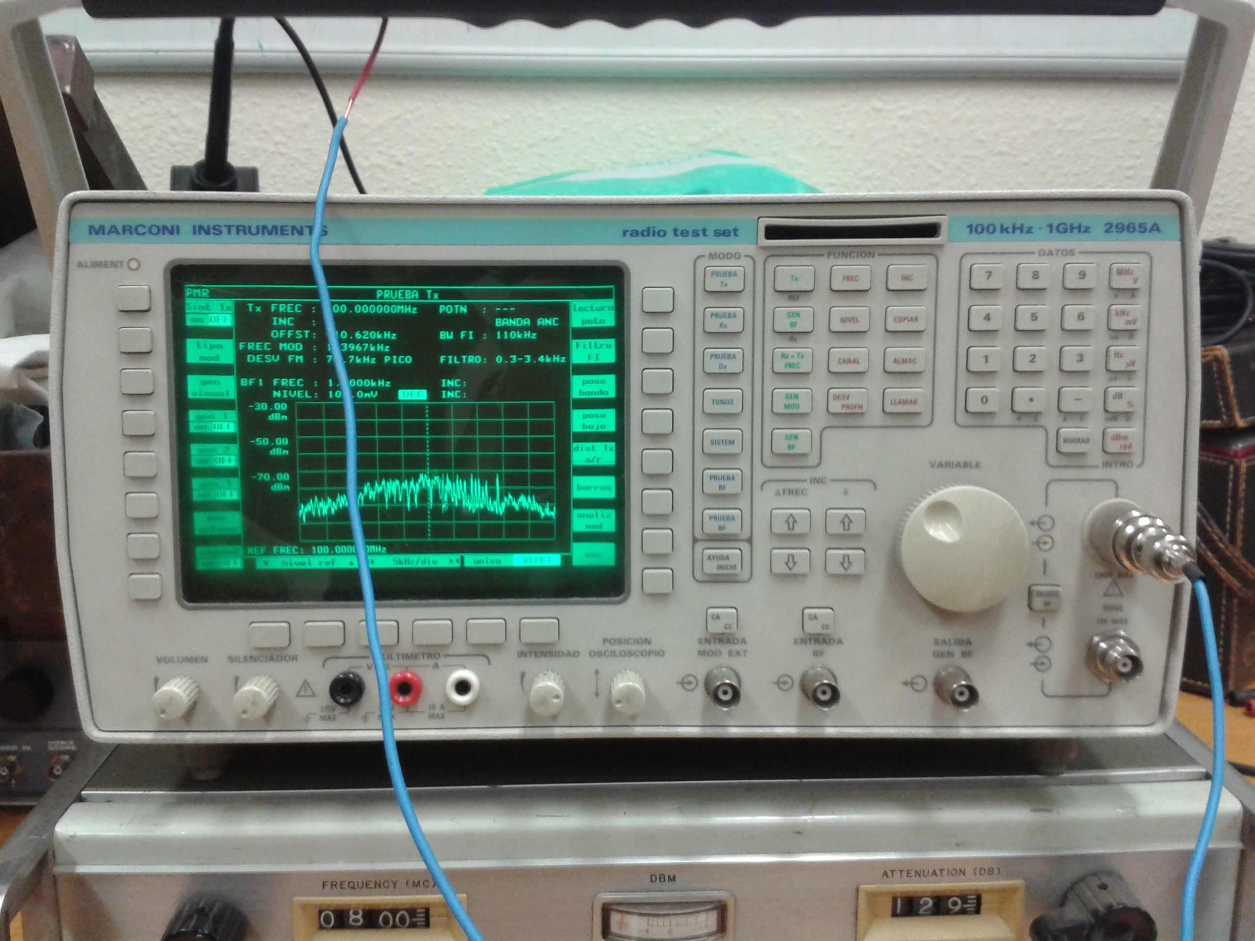 Analizador de espectros Marconi 2965