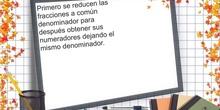 PRIMARIA 6º - SUMA Y RESTA CON DIFERENTE DENOMINADOR - MATEMÁTICAS - FORMACIÓN