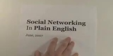 Social Networking in Plain English