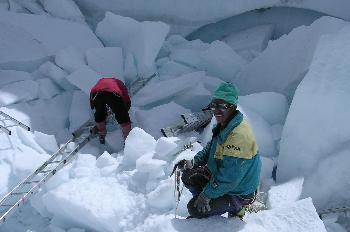 El ´doctor´de la cascada de hielo