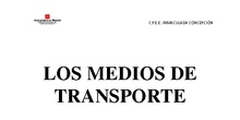 Dosier Transportes. Nivel alto