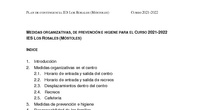 Plan de contingencia IES Los Rosales 21-22