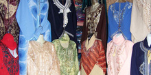 Venta de ropa, zoco de Túnez