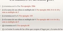 PRIMARIA - 6º - CRITERIOS DE DIVISIBILIDAD - MATEMÁTICAS