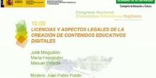 Mesa redonda: Licencias y aspectos legales de la creación de contenidos educativos digitales