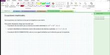 2Bto - 01 - Matrices - 15 - Ecuaciones matriciales