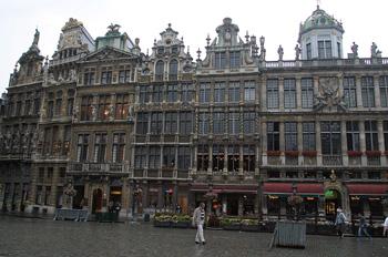 Casas en la Grand Place, le Cornet, Bruselas, Bélgica