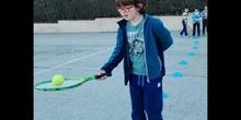 Iniciación al tenis... 2º de primaria