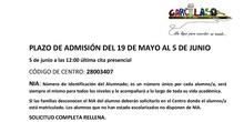 ADMISIÓN ALUMNOS CURSOS 2020/21