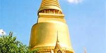 Plano de stupa dorada, Bangkok, Tailandia