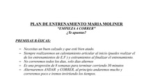 PLAN DE ENTRENAMIENTO MARÍA MOLINER