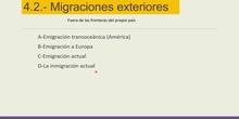 Las migraciones exteriores
