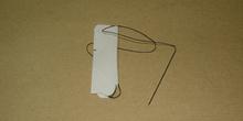 Seda de sutura con aguja recta
