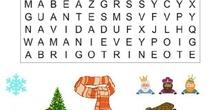 Sopas de letras de invierno