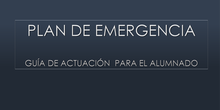 Plan de emergencias.Alumnos