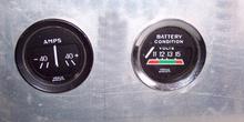 Amperímetro consumo y tensión batería