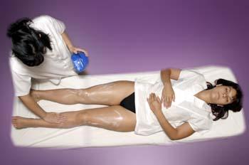 Masaje y mascarilla corporal: extensión cosmético de masaje