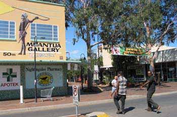 Zona céntrica de Alice Springs, Australia