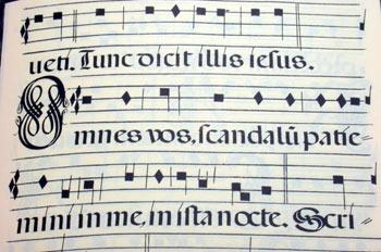 Partitura de canto gregoriano