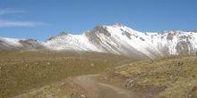 El volcán Nevado de Toluca, carretera de entrada al cráter