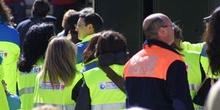 Homenaje a los servicios de emergencia en la Puerta del Sol, Mad