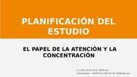 Pacificación del estudio y la importancia de la atención/concentración