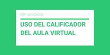 2.1 Elaboración de una ayuda. Uso del Calificador. Soledad de la Morena Campos.