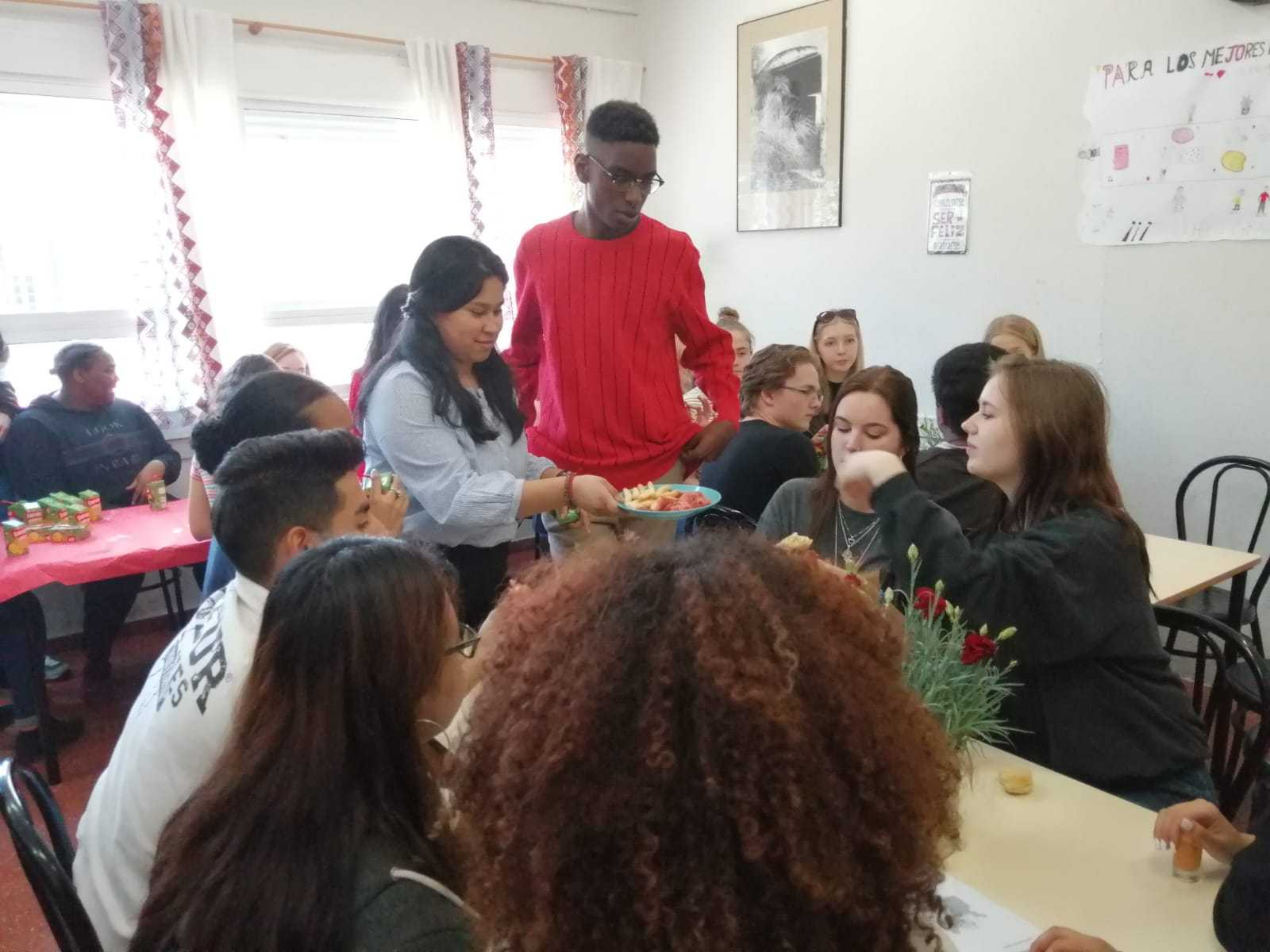 Visita de alumnos daneses al instituto 1