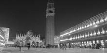 Plaza de San Marco, Venecia (blanco y negro)