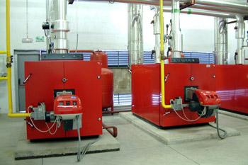 Caldera producción agua caliente