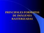 Formatos de imágenes rasterizadas (PPT)