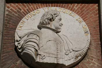 Medallón del pintor Diego de Velázquez