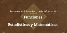 Tema 5. Funciones Estadísticas y matemáticas