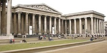 Entrada del British Museum, Londres