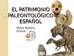 EL PATRIMONIO PALEONTOLÓGICO ESPAÑOL