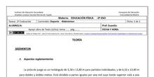 Ficha de Bádminton para 2º ESO