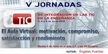 """Ponencia de Dª. Mª Ángeles Puertas: """"Aula virtual: motivación, compromiso"""""""
