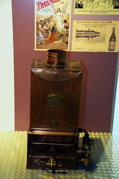 Utensilios domésticos: Calentador de gas para agua (hacia 1900),