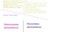 PRIMARIA 6º - LENGUA CASTELLANA Y LITERATURA - DETERMINANTES Y PRONOMBRES DEMOSTRATIVOS