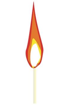 Cerilla ardiendo