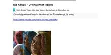 Die Arbeit in Indien: Die Adivasi (Arbeitsblatt) - 3º ESO