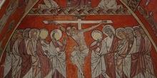 Grabado calvario de jesús y los apóstoles, Huesca
