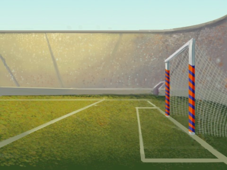 El fútbol con letras divertidas