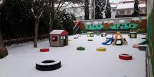 !Qué chulo nuestro patio nevado!