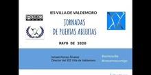 PRESENTACIÓN PUERTAS ABIERTAS VIRTUALES MAYO 2020 - IES VILLA DE VALDEMORO