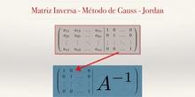 Matrices 8 - Cálculo de la Matriz inversa por Gauss-Jordan