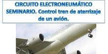 Circuito electroneumático control tren de aterrizaje