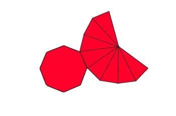 Desarrollo de una pirámide de base octogonal