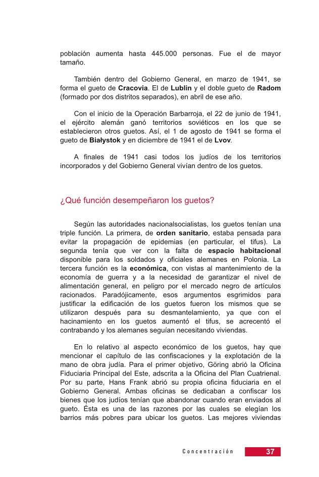 Página 37 de la Guía Didáctica de la Shoá