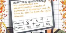 PRIMARIA 6º - MAGNITUDES PROPORCIONALES - MATEMÁTICAS - FORMACIÓN